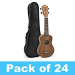 Tiger Soprano Ukulele in Natural - School Pack of 24