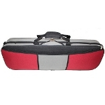 GSJ 4/4 Size Red/Grey 2-Tone Oblong Violin Case