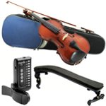 Primavera 100 4/4 Size Violin Pack for Beginners with Tuner and Violin Shoulder Rest