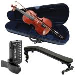 Primavera 90 4/4 Size Violin Pack for Beginners with Tuner and Violin Shoulder Rest