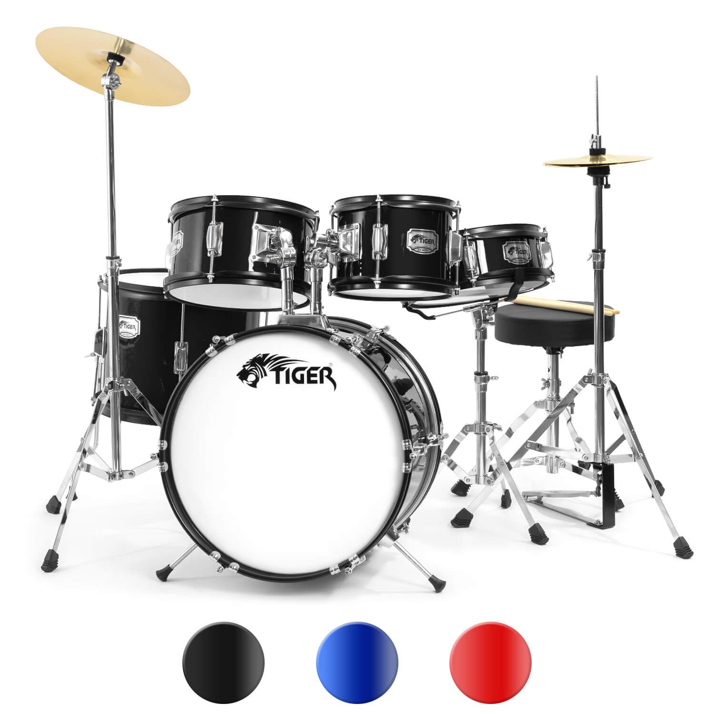 Tiger 5 Piece Junior Drum Kits - Drum Sets for Kids