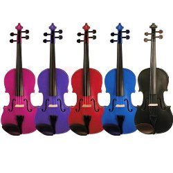 Harlequin Coloured Violin Outfits