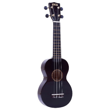 Mahalo Beginners MR1 - 2511 - Left Handed Soprano Ukulele in Black with Aquila Strings & Bag