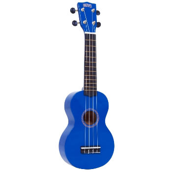 Mahalo Beginners MR1 - 2511 - Left Handed Soprano Ukulele in Blue with Aquila Strings & Bag