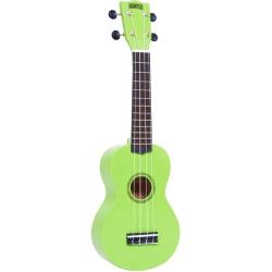 Mahalo Beginners MR1 - 2511 - Left Handed Soprano Ukulele in Green with Aquila Strings & Bag