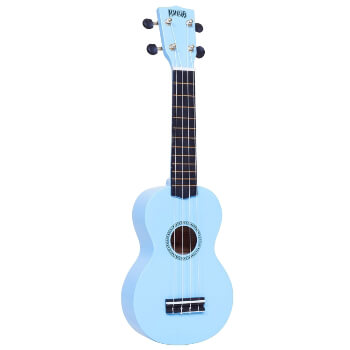 Mahalo Beginners MR1 - 2511 - Left Handed Soprano Ukulele in Light Blue with Aquila Strings & Bag