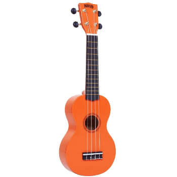 Mahalo Beginners MR1 - 2511 - Left Handed Soprano Ukulele in Orange with Aquila Strings & Bag
