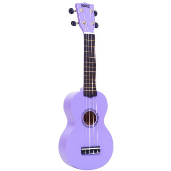 Mahalo Beginners MR1 - 2511 - Left Handed Soprano Ukulele in Purple with Aquila Strings & Bag