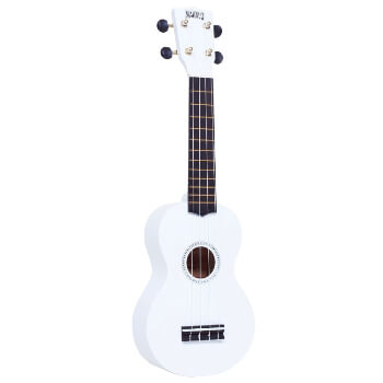 Mahalo Beginners MR1 - 2511 - Left Handed Soprano Ukulele in White with Aquila Strings & Bag