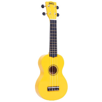 Mahalo Beginners MR1 - 2511 - Left Handed Soprano Ukulele in Yellow with Aquila Strings & Bag