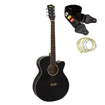 Tiger Black Electro Acoustic Guitar for Beginners