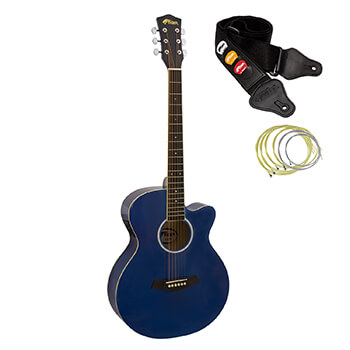 Tiger Blue Electro Acoustic Guitar for Beginners