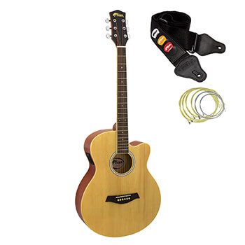 Tiger Natural Electro Acoustic Guitar for Beginners