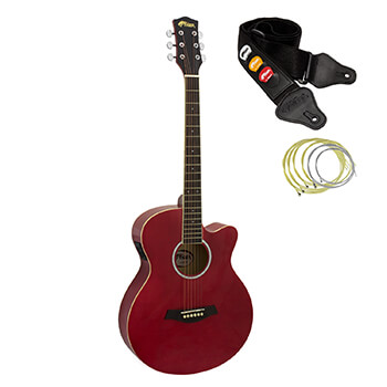 Tiger Red Electro Acoustic Guitar for Beginners