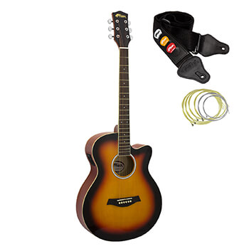 Tiger Sunburst Electro Acoustic Guitar for Beginners