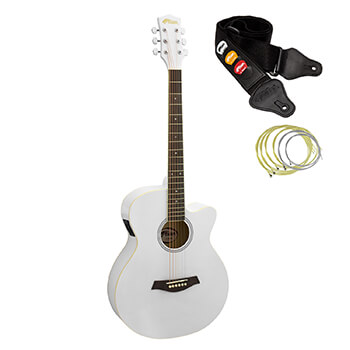 Tiger White Electro Acoustic Guitar for Beginners