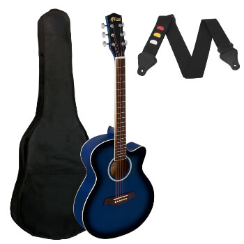 Small Body Acoustic Guitar for Beginners Guitar - Blue