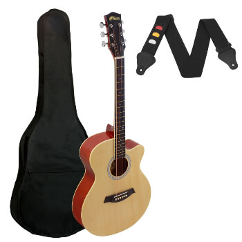 Small Body Acoustic Guitar for Beginners Guitar - Natural