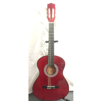 B GRADE Tiger Childrens 3/4 Size Classical Guitar  – Red