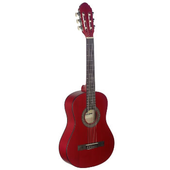 Stagg 3/4 Beginners Classical Guitar - Red FInish with Nylon Strings