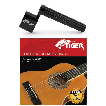 Tiger Classical Guitar Strings & String Winder Pack