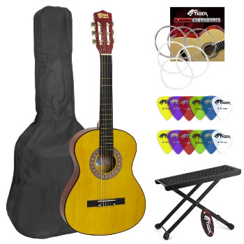 Mad About Classical Guitar for Students - 3/4 Size - Footstool & Plectrums
