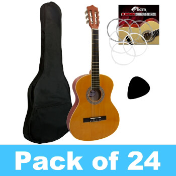 Tiger 3/4 Size Classical Guitar Complete Starter Kit - Pack of 24