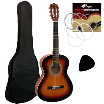 Tiger 3/4 Classical Guitar in Sunburst