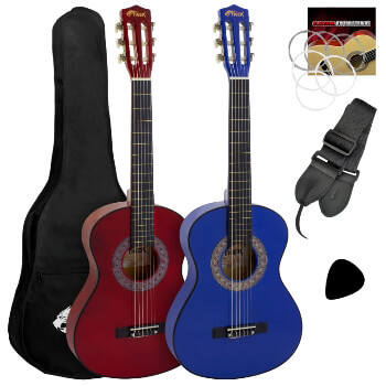 Tiger 4/4 Size Classical Spanish Guitar Beginners Complete Starter Kit