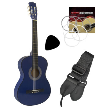 Tiger Childrens 1/2 Size Classical Guitar – Blue