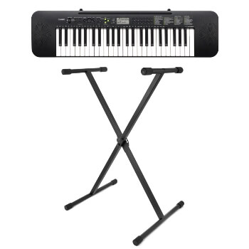 Casio Beginner 49 Key Standard Keyboard with Tiger X-Frame Stand