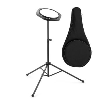 "Tiger 8"" Practice Pad and Stand Pack for Beginners, Warm Ups and Practice Snare, Tom Rudiments"