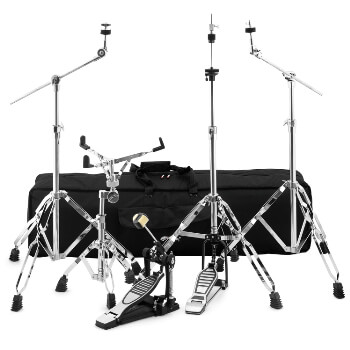 Tiger Drum Hardware Pack, 2x Boom Cymbal, Hi-hat, Snare Stands, Bass Pedal & Bag