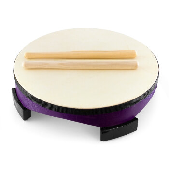 "World Rhythm 10"" Floor Gathering Drum with Beaters"