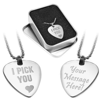Personalised Engraved Guitar Pick including FREE Gift Box