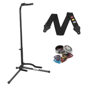 Tiger Universal Guitar Stand with Guitar Strap and Plectrums