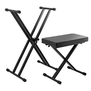Tiger Keyboard Stand and Stool Set
