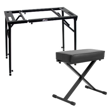 Tiger Flat Top Keyboard Stand and Stool Pack