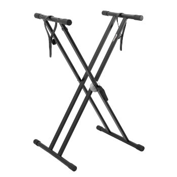 Tiger Keyboard Stand with Securing Straps - Double Braced X Frame