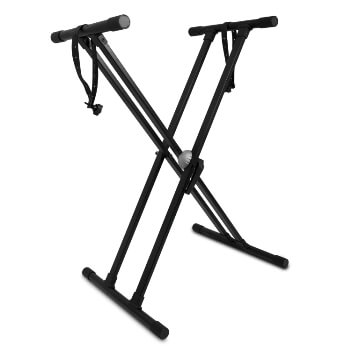 Mad About Keyboard Stand - Doubled Brace X Frame with Securing Straps