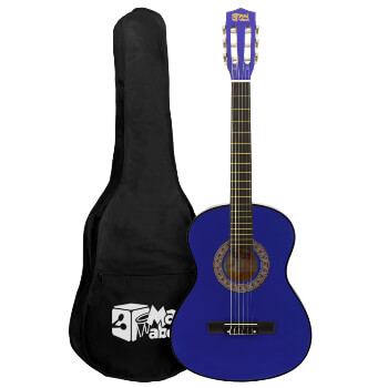Blue 3/4 Classical Guitar by Mad About - Colourful Guitar with Bag