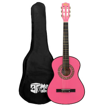 Pink 1/2 Classical Guitar by Mad About - Colourful Guitar with Bag