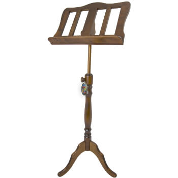Mad About Baroque Style Walnut Wooden Music Stand
