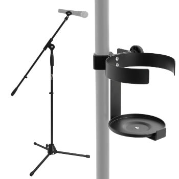 Tiger MCA7 Boom Microphone Stand with Drinks Cup Holder