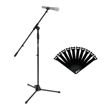 Tiger Standard Boom Microphone Stand with Cable Ties Pack