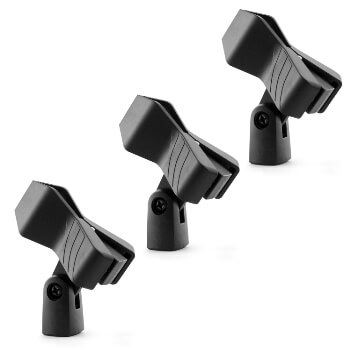 Universal Microphone Clip - Spring Clip - Pack of 3