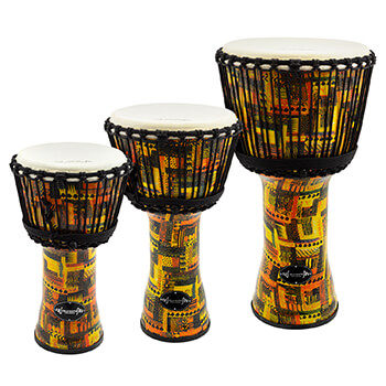 World Rhythm Synthetic Orange Djembe Drum