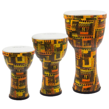 World Rhythm PVC Pretuned Djembes - Orange