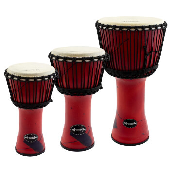 World Rhythm Djembe Drums in Red