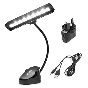Tiger Orchestra Music Stand Light - 9 Quality LED's & AC Adaptor